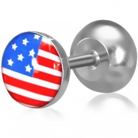 Amerikaanse vlag imitatie piercing oorbel