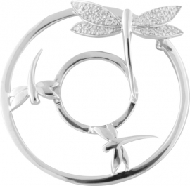 Zilveren Libelle 3D Fusion Munt