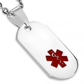 Medische ID-Hanger van Edelstaal - Graveer Hanger