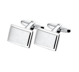 Elegante Matte met Gepolijste Manchetknopen van Gerhodineerd Zilver