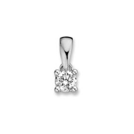 Excellent Jewelry Witgouden Hanger met 0,24 crt. Briljant