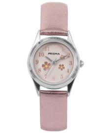 Little Flower Zachtroze Meisjes Horloge met Metallic Horlogeband