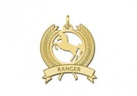 Names4ever Krans Naamhanger met Paard in Goud GNDH004