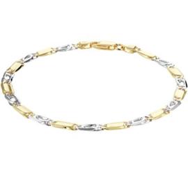 Bicolor Goud Armband Valkenoog 4,3 mm 21 cm