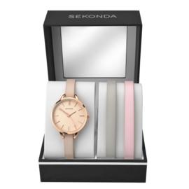 Sekonda Roségoudkleurig Dames Horloge met Sier Diamanten