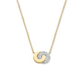 Excellent Jewelry Collier van Bicolor Goud met Verbonden Cirkels