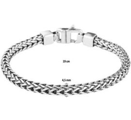 Zilveren Vossestaart Schakelarmband / Lengte 19cm