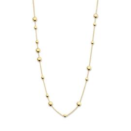 Excellent Jewelry Geelgouden Collier met Ronde Plaatjes