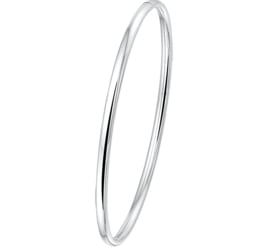 Dames Bangle armband van Zilver Ovale Buis