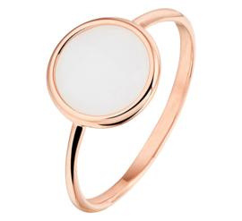 Roségouden Ring met Witte Kwarts Edelsteen