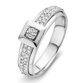 Excellent Jewelry Elegante Witgouden Ring met Briljanten