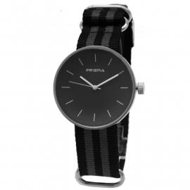 Prisma Horloge Unisex Simpel Grijs Nato P.1241.21WG