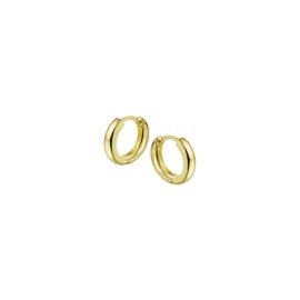 Gouden Klapoorringen Diameter 12,5mm