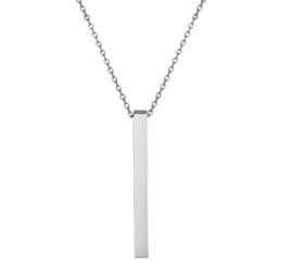 Edelstalen Anker Collier met Verticale Balk Hanger