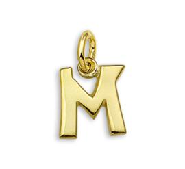 Gouden Letter Bedel Hanger – M