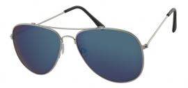 Aviator Zonnebril met Blauw Glas