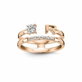Nomelli Iniziali-Pietra Ring van Roségoud