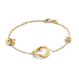 Excellent Jewelry Geelgouden Armband met Fantasie Kopstuk