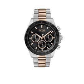 Hugo Boss Horloge Hero Zilverkleurig Horloge met Roségoudkleurige Elementen van Boss