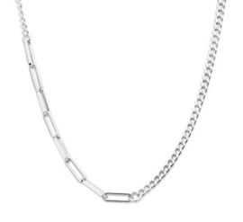 Zilveren Dames Collier met Schakels 4,2 mm 43 + 3 cm