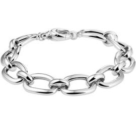 Schakel Armband van Zilver voor Dames