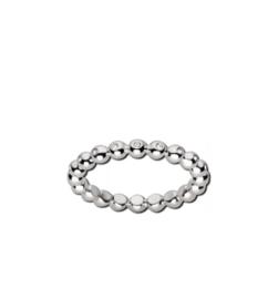 Zilverkleurige Bolletjes Ring met Zirkonia's van M&M