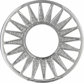 Zilveren Zirkonia Zonnestralen Fusion Munt