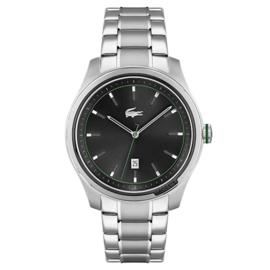 Lacoste Musketeer Zilverkleurig Heren Horloge met Zwarte Wijzerplaat