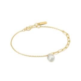 Ania Haie Pearl of Wisdom Goudkleurige Bracelet van Zilver