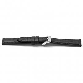Horlogeband D141 Leder Croco Zwart 14x12mm NFC