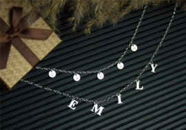 Naamketting met Losse Letters van Zilver | Names4ever
