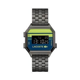 Lacoste Donkergrijs Berlin Horloge met Digitale Tijdweergave