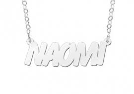 Names4ever Naomi Stijl Zilveren Naamketting