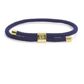 Blaauw Bloed Majestic Heren Armband – Blauw met Goudkleur