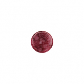 Verwisselbare donker roze kwarts muntje