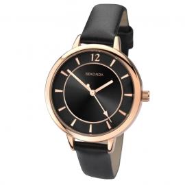 Sekonda Horloge SEK.2138 Dames Roségoud en Zwart