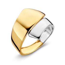Excellent Jewelry Brede Bicolor Ring voor Dames