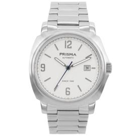 Prisma Zilverkleurig Heren Horloge met Edelstalen Horlogeband