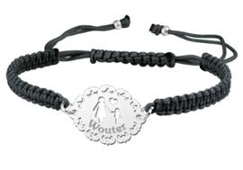 Zilveren Moeder-Zoon Shamballa Armband   Names4ever