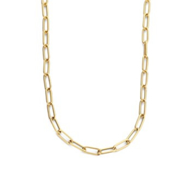 Massief Gouden Collier Paperclip 4,0 mm 42 cm