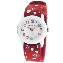 Prisma Horloge P.1310 Kids Rosa Paddenstoel