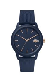 Lacoste Blauw Dames Horloge met Blauwe Silicone Horlogeband