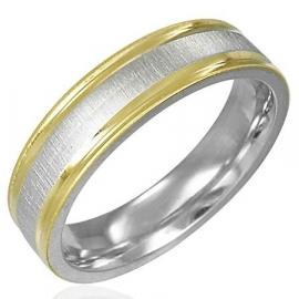 Ring met goud + zilverkleur - Graveer Ring SKU20784