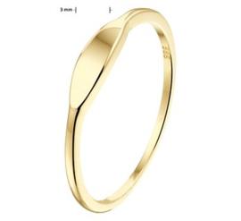 14k Gouden Graveer Ring met Graveerplaatje