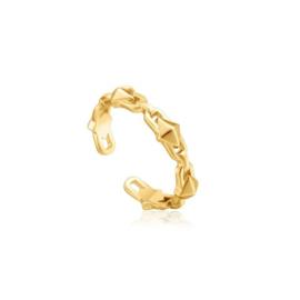 Ania Haie Spike it Up Goudkleurige Ring van Zilver