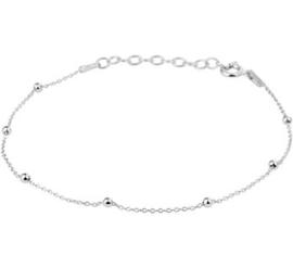Gerhodineerd Zilveren Armband met Bolletjes Decoratie