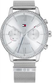 Tommy Hilfiger Zilverkleurig Blake Horloge met Zirkonia's voor Dames