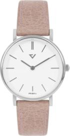 Prisma Dames Horloge met Roze Leder – 100%NL Editie