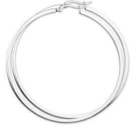 Buis Creolen van Edelstaal / Diameter 60mm