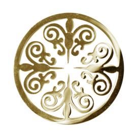 LOCKits Goudkleurige Ornamentele Munt van Edelstaal 33mm